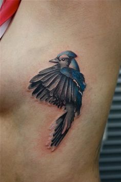 blue jay tattoo for my grandfather Great Tattoos, Trendy Tattoos, Beautiful Tattoos, Tattoos For Guys, Bird Tattoo Men, Bluebird Tattoo, Bird Tattoos, Tatoos, Hen Tattoo