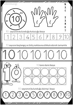 116 En Iyi 10 Sayisi Goruntusu 2020 Matematik Okul Oncesi Ve Okuma