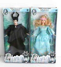 DISNEY Sleeping Beauty Aurora Princess AND Maleficent Barbie Doll 2PCS EDITION