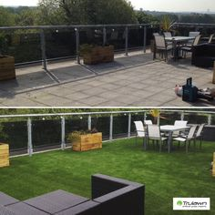Artificial grass has really turned this roof top into a garden. #artificialgrass #landscaping #garden