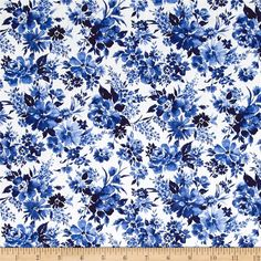 Fabric-Funny Flower by Michael Miller Fabrics-Colorful Fun Flowers on white