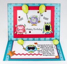 Immature Birthday - Silly Monsters stamp set - Your Next Stamp