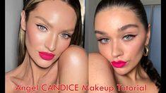Half eyeliner and Bright Pink lip. Natural Pink Lips, Pale Pink Lips, Bright Pink Lipsticks, Pink Lip Gloss, Soft Lips, Pink Lipstick Makeup, Eye Makeup, Makeup 101, Makeup Inspo