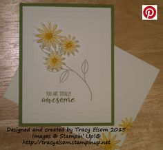 Awesome card using the Grateful Bunch Stamp Set and Blossom Bunch Punch bundle from the Stampin' Up! 2016 Occasions Catalogue.  http://tracyelsom.stampinup.net