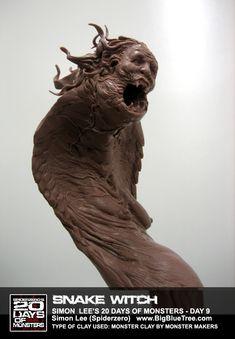The Art of Simon Lee - Spiderzero - Concept Artist, Creature Designer, Sculptor, teacher Creature 3d, Beast Creature, Creature Concept, Creature Design, Arte Horror, Horror Art, Simon Lee, Traditional Sculptures, Monster Design