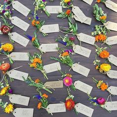 Escort Cards for a Colorful Wedding : Brides