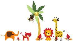 Kids_Room_Wall_Art_-_JungleFriends.jpg (460×263)
