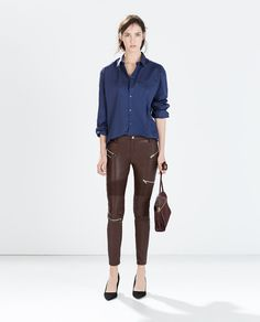 ZARA - NEW THIS WEEK - TROUSERS WITH ZIPS