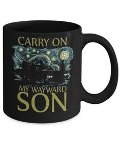 Carry on my Wayward,wayward son mug,supernatural fans,carry on mug,father's gift,love kansas mug,ks shirt,pocket mug,carry on wayward son by Bulwar on Etsy Supernatural Fans, Teachers' Day, Fishing Gifts, Gifts For Father, Funny Tshirts, Carry On, Sons, Kansas, Pocket
