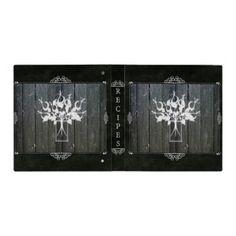Vintage Chalkboard Flower Binder