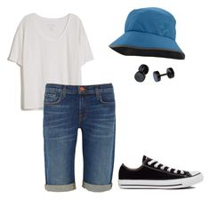 """""""#KimDaily Inspired Look~"""" by bangtancuties on Polyvore featuring Fine Collection, J Brand, Converse and Outdoor Research"""