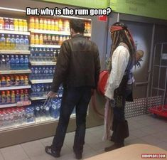 Why is the rum gone? Do they sell rum here?