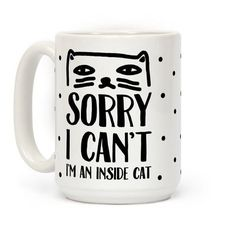 Show off your love of your adorably fluffy kitty with this funny and cute, lazy and introvert pride, inside cat coffee mug! Cuddle up and stay away from social obligations like a real cool cat!