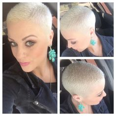 Very-Short-Blonde-Thick-Hair Hairstyles for Very Short Hair Short Sassy Hair, Super Short Hair, Short Hair Styles Easy, Short Hair Cuts, Pixie Cuts, Pixie Styles, Very Short Haircuts, Cool Short Hairstyles, Pixie Hairstyles