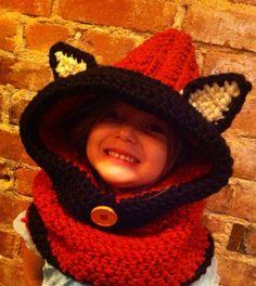 Hooded Fox Scarf on Etsy, $24.50