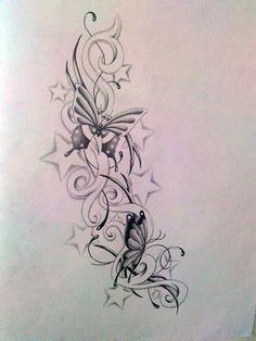 Star Tattoo | Tattoo Design - Free Download Tattoo #12139 Butterfly And Star ...