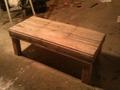 pallet projects | Up-cycled shipping pallet coffee table for under $20 - by ...