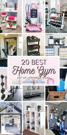 Save money and space with these super cool small home gym ideas. #homegym #homegymideas #gym #yoga #fitness #exercise #weightloss #lifestyle #organization #organizationideas #homedecor Diy Home Gym, Gym Room At Home, Home Gym Decor, Home Gym Garage, Basement Gym, Workout Room Home, Workout Rooms, Small Home Gyms, Home Gym Design