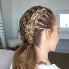 Party Hairstyles For Girls, Girl Hairstyles, Braided Hairstyles, Pretty Hairstyles, Cool Braids, Braids For Long Hair, Medium Hair Styles, Short Hair Styles, Hair Videos