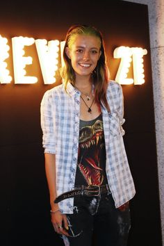 Chloe Norgaard at FOREVER 21 DENIM CAFE PARTY