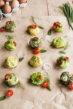 Frittata muffins aux légumes, sans caséine et sans gluten