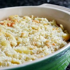 Italian Macaroni and Cheese. Baked shells with Fontina topped with Parmesan-flavored bread crumbs.