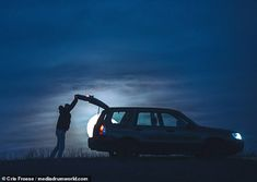 Car Boot, Great Photos, Interesting Stories, Moon, Night, Daily Mail, Vehicles, Photographs, Graphics