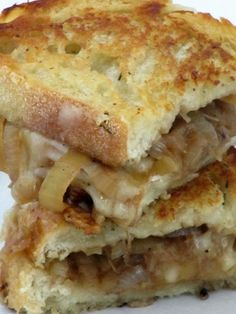 French Onion Grilled Cheese Sandwiches