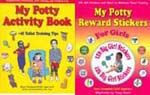 Potty Training Stickers for girls, plus a potty training activity book ~ makes learning fun and easy. By Tracy Foote; Sale price $13.99