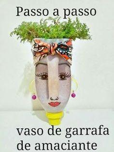 Best 12 26 Trendy Ideas For Garden Art Recycled Ideas – SkillOfKing. Plastic Bottle Planter, Plastic Bottle Flowers, Plastic Bottle Crafts, Recycle Plastic Bottles, Recycled Bottles, Recycled Crafts, Diy And Crafts, Arts And Crafts, Plastik Recycling