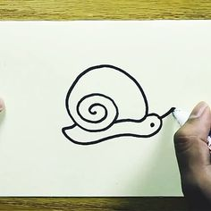 This is a easy to learn draw a snail . So draw and have fun. This is a easy to learn draw a snail . So draw and have fun. Drawing Lessons For Kids, Art Drawings For Kids, Pencil Art Drawings, Art Drawings Sketches, Easy Drawings, Sketch Art, Art For Kids, Drawing Ideas, Doodle Challenge