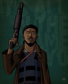 Omar Little from the Wire, by me.