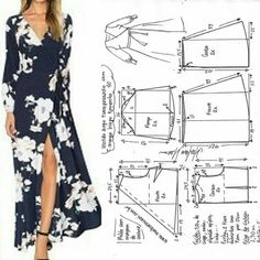 Plus Size Casual Solid Sleeveless V Neck Pockets Midi Dresses Long Dress Patterns, Dress Sewing Patterns, Clothing Patterns, Sewing Clothes, Diy Clothes, Blazer Jackets For Women, Jacket Pattern, Diy Dress, Wrap Dress
