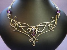 Makers of the finest Celtic Wedding Jewelry, LOTR jewelry, tiaras, headpieces,and wedding circlets of exquisite quality for your wedding day. Wire Necklace, Wire Wrapped Necklace, Celtic Necklace, Chocker Necklace, Gold Choker, Chokers, Metal Jewelry, Beaded Jewelry, Handmade Jewelry