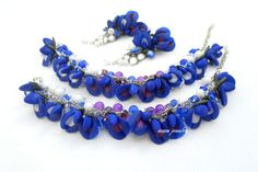 #bluebonnet #blue #handmade #jewelry #etsy Made to order on https://www.etsy.com/shop/insoujewelry