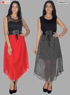 53524b56d3 TRACK DEAL-Women s Beautiful Set Of 2 WestrenWear Casual Designer Dress -  cmbdrs0113