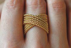 Tanja Friedrichs - Gold La Ring - ORRO Contemporary Jewellery Glasgow