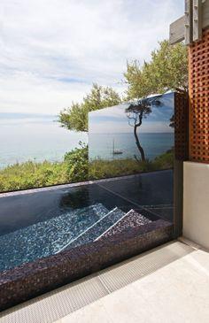 Trend mosaic tile pool design. Granite Transformations.