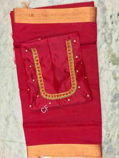 Kalyani silk sarees with designer Maggam work blouse.
