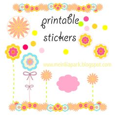 Free printable happy mood templates and stickers - ausdruckbare Sticker - freebie | MeinLilaPark – DIY printables and downloads
