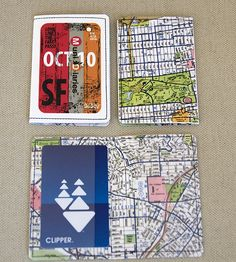 clipper card covers reminiscent of old school muni passes