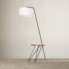 tripod floor lamp with table