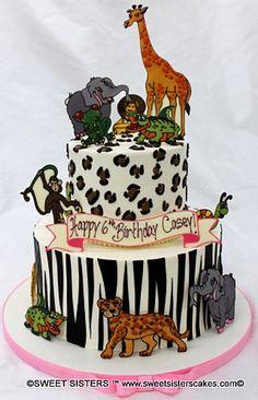 Have an animal safari for your birthday! #desserts #cakes #birthdaycake #animal #wildanimals #birthday #animalprints #SweetSisters