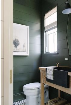 Olive green bathroom paint best bathroom colors ideas on bathroom wall colo Bathroom Renos, Bathroom Wall, Bathroom Interior, Small Bathroom, Master Bathroom, Shiplap Bathroom, Bathroom Ideas, White Bathroom, Bathroom Pictures