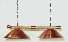 Twin copper lamp