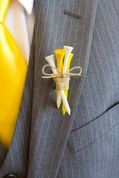 obsessed with this golf tee boutonniere