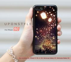 Phone Cases, iPhone 5C Case, Tangled, Movie Poster, Lights, iPhone Case, Phone Covers, Skins, Case for iphone, Case No-50080