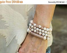 Semana Santa venta pila pulseras pulseras de la perla
