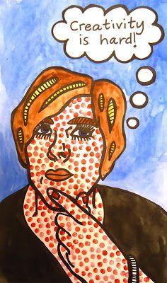 Lesson Plan: Lichtenstein Pop Art Self-Portrait ~ Artful Artsy Amy