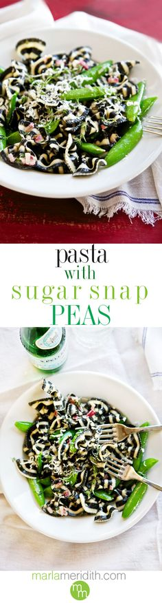 Pasta with Sugar Snap Peas   MarlaMeridith.com ( @marlameridith )